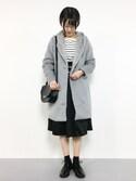まるさんの「シャギー衿ファーコート(natural couture|アントマリーズ)」を使ったコーディネート
