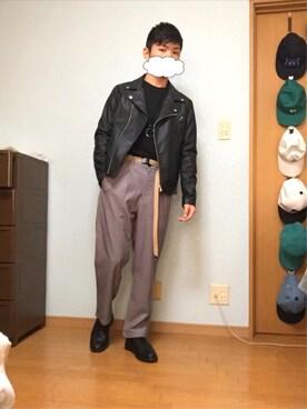 KoTa   さんの「WEGO/ダブルライダースジャケット(WEGO)」を使ったコーディネート
