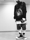 「Rick Owens Drop-Crotch Cotton Shorts(Rick Owens)」 using this 能天気お気楽馬鹿息子 looks