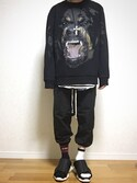 「Givenchy Rottweiler-Intarsia Sweater(Givenchy)」 using this 能天気お気楽馬鹿息子 looks