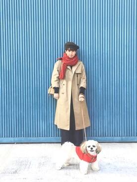 Kazumiさんの「FELT WOOL BERET(MHL.|エムエイチエル)」を使ったコーディネート