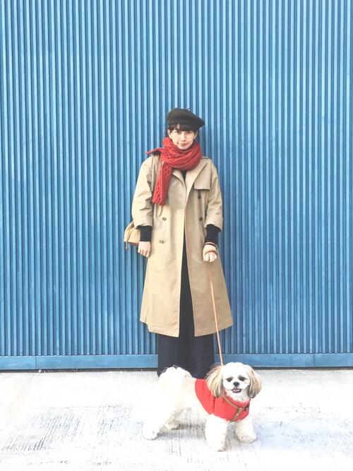 Kazumiさんの「WOMEN エクストラファインメリノハイネックセーター(長袖)(ユニクロ)」を使ったコーディネート