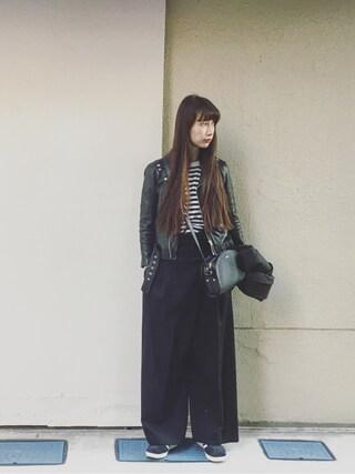 「shrink leather riders(beautiful people)」 using this Kazumi looks