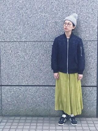 「<HIGHLAND 2000> BOBCAP NEP/ニット帽(HIGHLAND 2000)」 using this Kazumi looks
