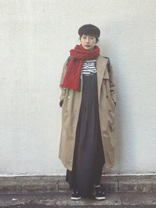 「<IRELANDSEYE>ケーブルマフラー(BEAUTY&YOUTH UNITED ARROWS)」 using this Kazumi looks