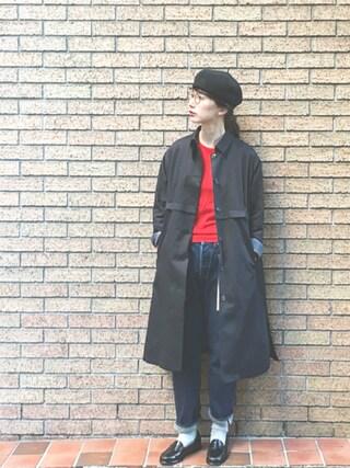 「【JOHN SMEDLEY/ジョン・スメドレー】 30G LONGSLEEVE クルーネックプルオーバー#(JOURNAL STANDARD)」 using this Kazumi looks