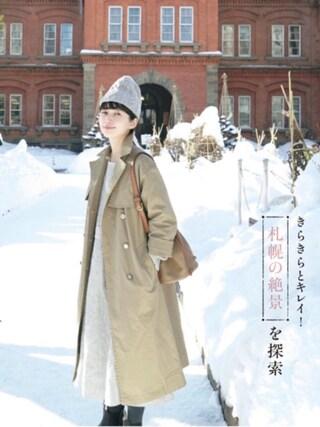 「リネンロングワンピース(conges payes ADIEU TRISTESSE)」 using this Kazumi looks