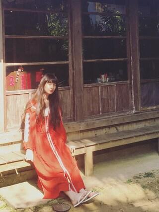 「【予約】【別注】<ne Quittez pas>エンブロイダリードレス(BEAUTY&YOUTH UNITED ARROWS)」 using this Kazumi looks