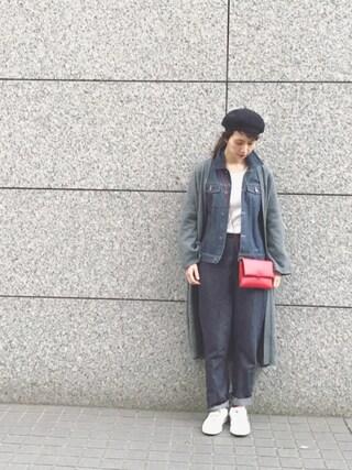 Kazumiさんの「BLOUSON BRANDY /STRETCH /デニムジャケット(A.P.C.|アー・ペー・セー)」を使ったコーディネート
