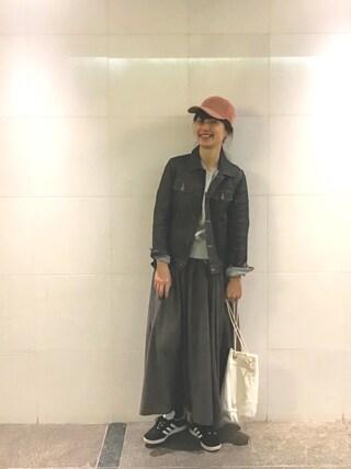 Kazumiさんの「NAVY プリント スエット(Shinzone|シンゾーン)」を使ったコーディネート