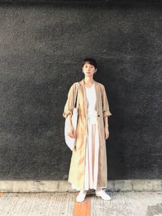 Kazumiさんの「ランタナとスミレのピアス(m.soeur|エムスール)」を使ったコーディネート