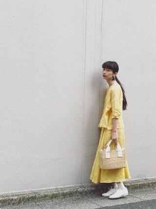 Kazumiさんの「グランジリネン タックブラウス(ADIEU TRISTESSE LOISIR|アデュートリステス ロワズィール)」を使ったコーディネート