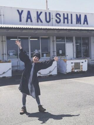 Kazumiさんの「リネンドビーパッチワークワンピース(conges payes ADIEU TRISTESSE|コンジェ ペイエ アデュートリステス)」を使ったコーディネート