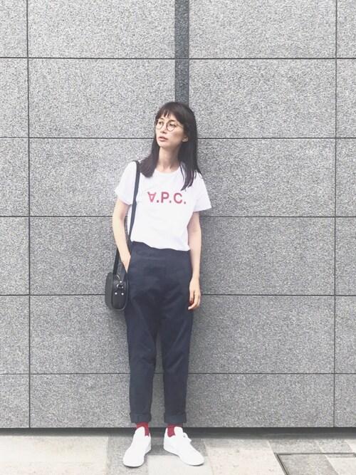 Kazumiさんの「T-SHIRT VPC HIVER 87/FEMME(A.P.C.)」を使ったコーディネート
