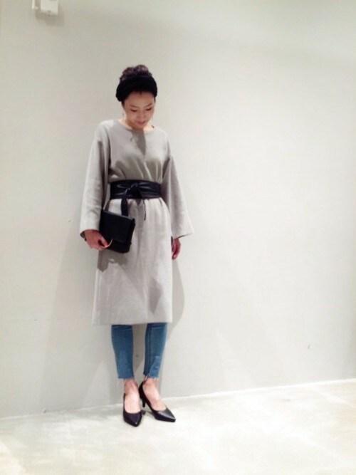BLISS POINT イオンモール宮崎店 Womens Staff2さんの「12Gフロントロングスリット/745818(BLISS POINT)」を使ったコーディネート
