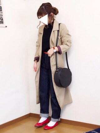 welina*さんの「JAPANファブリックボーイフィットデニム(AZUL by moussy|アズールバイマウジー)」を使ったコーディネート