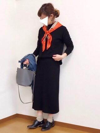 welina*さんの「n°11 / CODELLO / PARISスカーフ(n゚ 11|ナンバージュウイチ)」を使ったコーディネート
