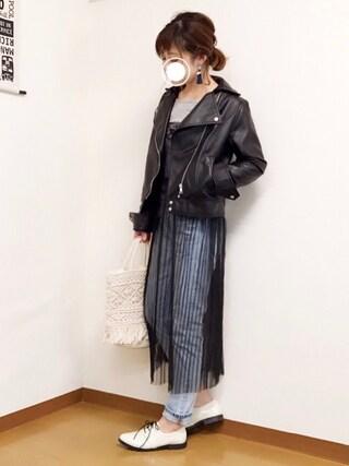 「WEGO/チュールワンピレイヤード5分袖Tシャツ(WEGO)」 using this welina* looks