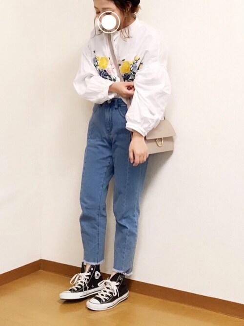 搭配gu牛仔裤的时尚穿搭总览(身高:151cm~160cm,发型图片