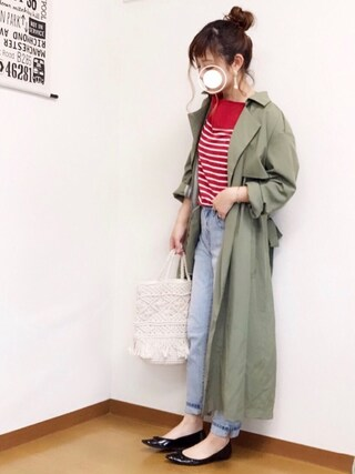 「【BACK NUMBER】テロンチコート(Right-on)」 using this welina* looks