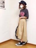 welina*さんの「綿アソートロゴTシャツ【niko and ...】(niko and...|ニコアンド)」を使ったコーディネート