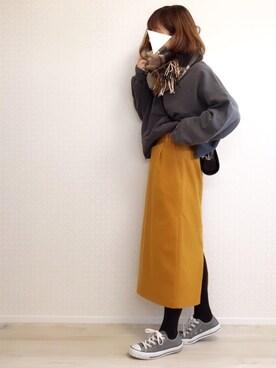 welina*さんの「TRキモウカラータイトスカート 774715(LOWRYS FARM|ローリーズ ファーム)」を使ったコーディネート