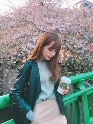 YUUKIさんの「STUDIOUS 台形ミニスカート(STUDIOUS|ステュディオス)」を使ったコーディネート