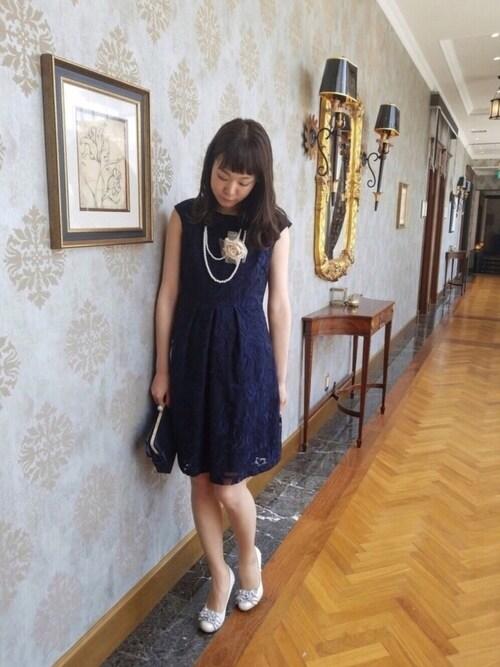 onomimonoさんの「コード刺繍チュールドレス(Rose Tiara)」を使ったコーディネート