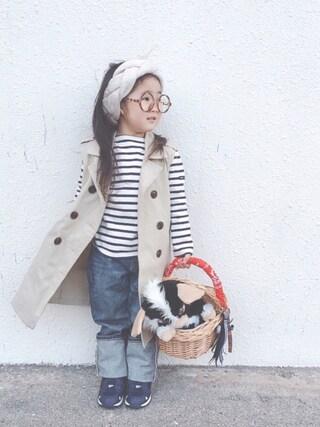 「別注【SAINT JAMES(セントジェームス)】OUESSANT16①(SAINT JAMES)」 using this *tricot* looks