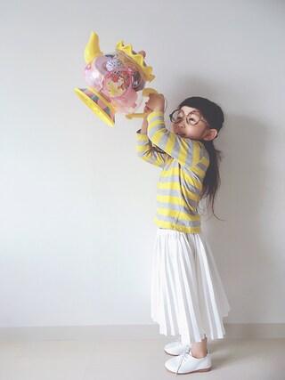 「プリーツスカート(petit main)」 using this *tricot* looks