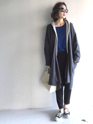 BouJeloud|sakamoto shizukaさんの「カブゼバックルミニトートバッグ 745133(LEPSIM|レプシィム)」を使ったコーディネート