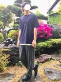 ハクさんの「オーガニックコットンポケTシャツ(5分袖)(SENSE OF PLACE by URBAN RESEARCH|センス オブ プレイス バイ アーバンリサーチ)」を使ったコーディネート