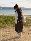 YUKIHAさんの「WOMEN ウルトラライトダウンキルトベスト(ユニクロ|ユニクロ)」を使ったコーディネート