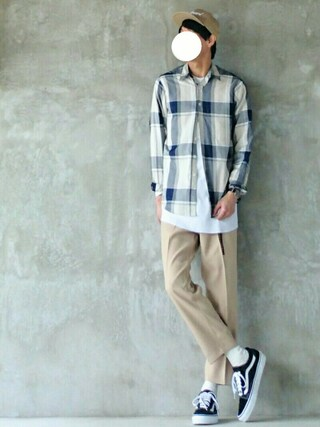 「<Steven Alan> RYN/CHECK REVERSE SEAM/シャツ(Steven Alan)」 using this mokashio looks