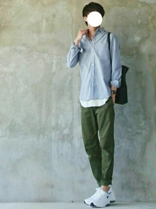 mokashioさんの「【新色追加】ROSSO MEN ハイパフォーマンスオックスフォードB.Dシャツ(URBAN RESEARCH ROSSO MEN|アーバンリサーチ ロッソメン)」を使ったコーディネート