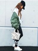 SEIKOさんの「レディース アディダス トレフォイル レギンス adidas WMNS TREFOIL LEGGINGS AJ8153(adidas|アディダス)」を使ったコーディネート