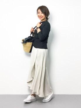 ZOZOTOWN|natsuさんの「【otonaMUSE11月号掲載 佐田真由美さん着用】 BARNYARDSTORM / エアリーラップスカート(BARNYARDSTORM)」を使ったコーディネート