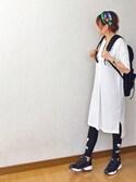 suzu♪さんの「【adicolor】オリジナルス レギンス[TREFOIL LEGGINGS](adidas|アディダス)」を使ったコーディネート