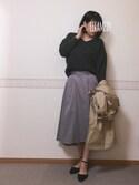 mincoさんの「80ミコチノフレアスカート 744470(LOWRYS FARM|ローリーズ ファーム)」を使ったコーディネート