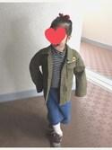 yumeさんの「【親子お揃い】ワッペンミリタリージャケット(CIAOPANIC TYPY|チャオパニックティピー)」を使ったコーディネート