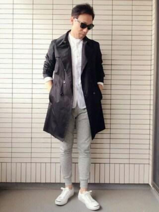 Daaasukeさんの「バンドカラーラウンドテールシャツ(COMME CA ISM|コムサイズム)」を使ったコーディネート