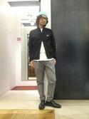 ucd☆さんの「Sleeve Paneled Track Jacket(FRED PERRY|フレッドペリー)」を使ったコーディネート