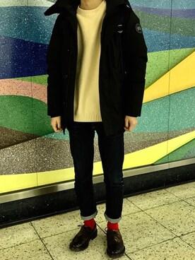 Yohei Okawaさんの「Graphite:ワンウォッシュデニム(KURO|クロ)」を使ったコーディネート