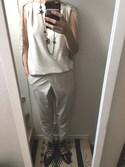 JASさんの「\平子理沙さん着用/レーススリーブセットアップパンツスタイル【結婚式・お呼ばれ対応】(DRESS LAB|ドレスラボ)」を使ったコーディネート