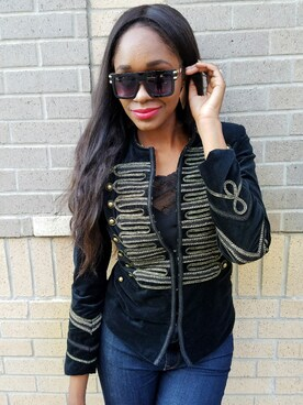 「Women's Blanknyc Velvet Band Jacket(Blank NYC)」 using this Cindy looks