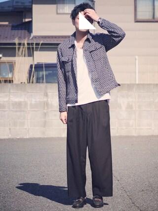 ryoさんの「CIRCLE TRUNK V NECK PK TEE ( DRUNKARD'S DREAM )(WACKO MARIA|ワコマリア)」を使ったコーディネート