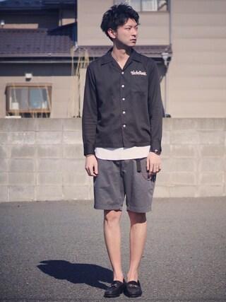 ryoさんの「50'Sシャツ(WACKO MARIA|ワコマリア)」を使ったコーディネート