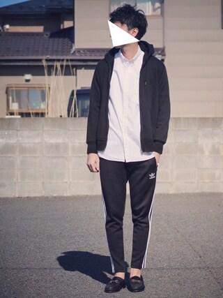 ryoさんの「adidas Originals for BEAMS / トラックパンツ(BEAMS|ビームス)」を使ったコーディネート