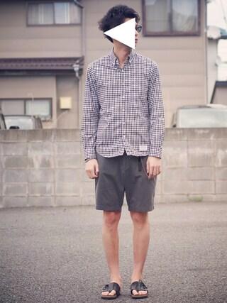 ryoさんの「ボタンダウンギンガムチェックシャツL/S(WACKO MARIA|ワコマリア)」を使ったコーディネート