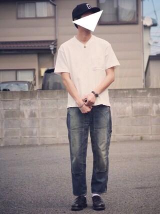 ryoさんの「べースボールキャップ(WACKO MARIA|ワコマリア)」を使ったコーディネート